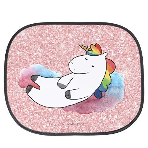 """Mr. & Mrs. Panda Fenster, Kinder, Auto Sonnenschutz Einhorn Wolke 7\"""" - Farbe Glitzer Rosa"""