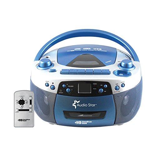Hamilton Buhl 5050ULTRA Educational Boombox Home CD Player Recorder Blue