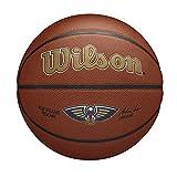 Wilson Pelota de Baloncesto Team Alliance, New Orleans Pelicans, Interior/Exterior, Cuero Mixto, Tamaño: 7