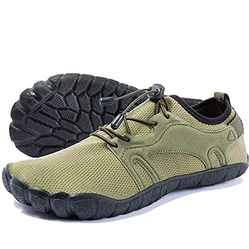 Zapatos de Agua para Hombre Zapatos Descalzos de Secado Rápido Zapatos Deportivos acuático para Playa Pesca Yoga Buceo Esnórquel Surf Ejercito Verde 50 EU