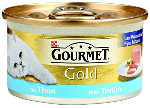 Gourmet gold fijne mousse tonijn kattenvoer 85 GR