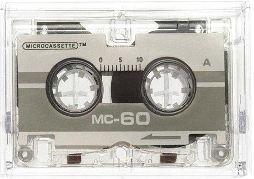 Genie MC-60 Microcassetten (Plastik-Gehäuse) 2er Pack grau