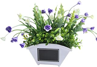 Dserw Artificial Bonsai,Artificial Flower Grass Plant Pot Bonsai Garden Wedding Living Room Decor - Purple