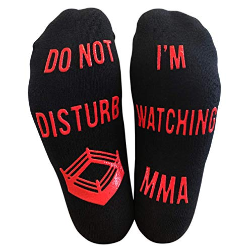 'Do Not Disturb, I'm Watching MMA' Funny Ankle Socks - Great Gift For Mixed Martial Arts Fans