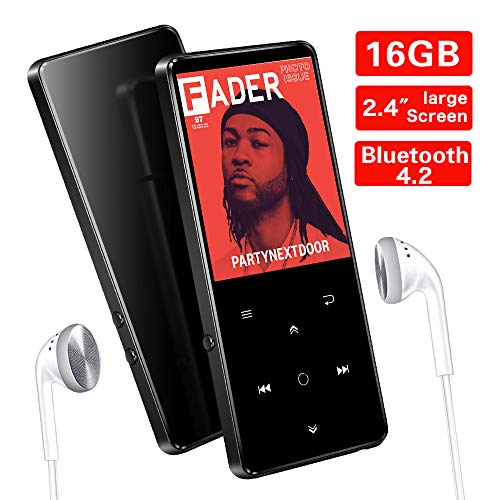 16GB Reproductor MP3 Bluetooth 4.2 SUPEREYE con Pantalla TFT de 2.4...