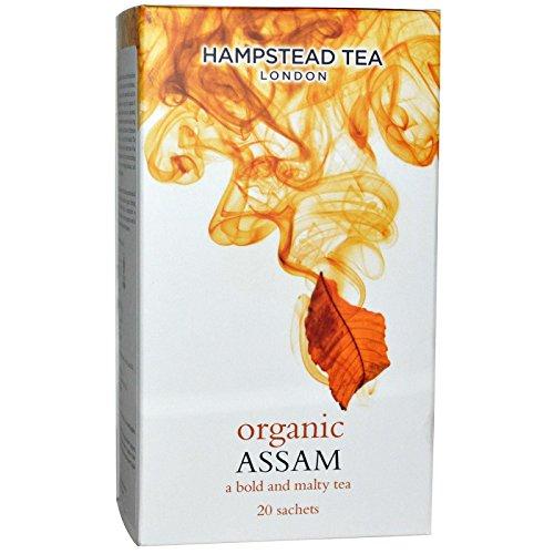 4 x 20 Sachets (160 Gramm) - Hampstead Tee London Imperial Assam Bio Schwarzer Tee/Té Nero Biologico di Assam