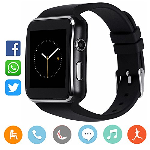 Bluetooth Smart Watch with Camera, CanMixs CM03 Touchscreen Smart Wrist Watch with Sim Card Slot,…