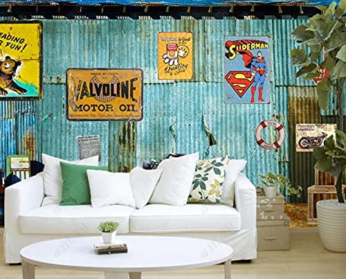Mural pared Papel pintado mural del coche de la pintura al óleo Murales de pared -350cmx245cm