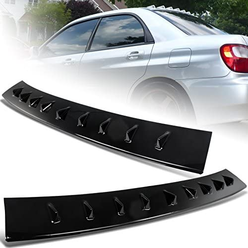 EPARTS Glossy Black ABS Vortex Shark Spoile Rear Fin Quality inspection Window Regular store Roof