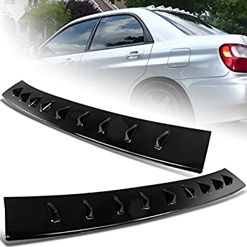 SCITOO ABS Black Rear Window Top Roof Spoiler Wing Exterior Accessories Styling Kits Replacement for Subaru Impreza 4-Door Sedan 2.5L WRX Limited