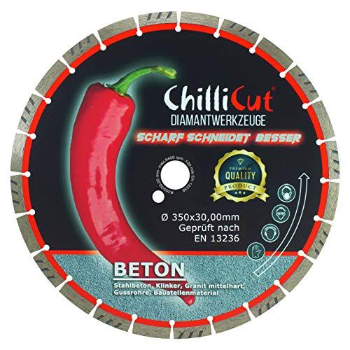 ChilliCut Diamant-Trennscheibe CHILLI-ROXX Beton 350mm x 30,0mm Diamantscheibe Segmenthöhe 12mm