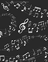 Music Composition Notebook: Black and White Musical Notes Music Manuscript Notebook with Staff Paper  - Blank Sheet Music Notebook - Music Journal - ... Songwriters, Teachers  (120 Pages 8.5 x 11)