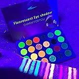 24 Colors Glow in the Dark Glitter Eyeshadow...