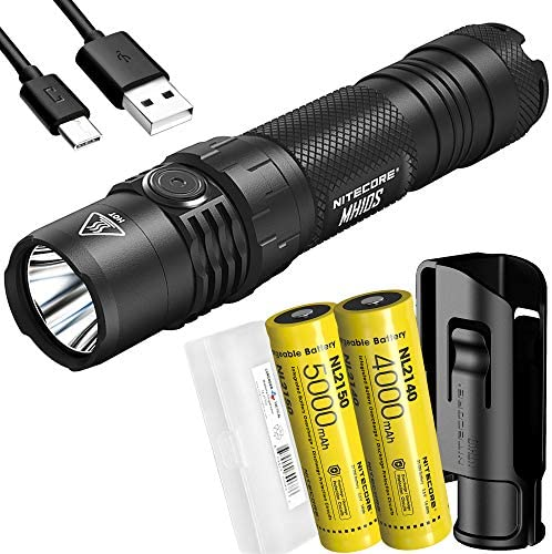 NITECORE MH10S 1800 Lumen USB C Rechargeable EDC Flashlight with Dual Batteries and LumenTac product image
