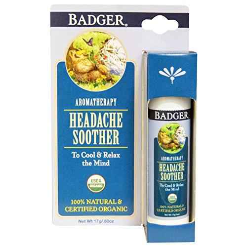 Badger Company, Headache Soother, Peppermint & Lavender, .60 oz (17 g) - 2PC