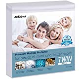 AirExpect Waterproof Mattress Protector Twin Size 100% Full Cotton Hypoallergenic Breathable Mattress Pad Cover,15' Deep Pocket, No Vinyl, 39'x75'