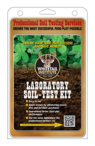 Whitetail Institute Laboratory Soil Test Kit, Ensures The Most Successful Deer Food Plot Possible, Professional Consultation Included, Receive Results Within One Week