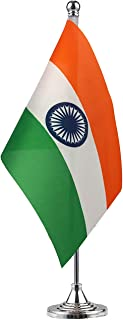 GentleGirl.USA India Flag Indian Flag Table Flag,Desk Flag,Office Flag,International World Country Flags Banners,Festival Events Celebration,Office Decoration,Desk,Home Decoration