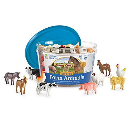 Learning Resources Farm Animal Counters, 10 Different Animals, Set of 60, Ages...