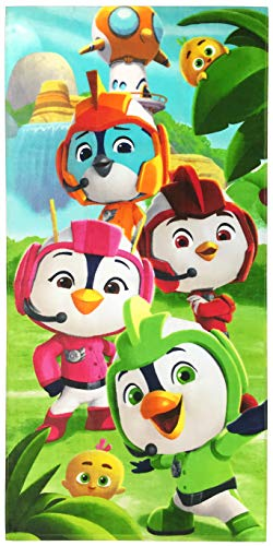 Nickelodeon Top Wing Kids Bath/Pool/Beach Towel - Featuring Brody, Rod, Swift, & Penny - Super Soft & Absorbent Fade Resistant Cotton Towel, Measures 28 inch x 58 inch (Official Nickelodeon Product)