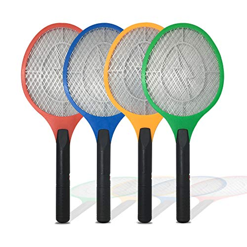 Handheld Bug Zapper Racket - 60 Pack Wholesale Electric Fly Swatter - Fly/Mosquito Swatter Best for Indoor and Outdoor Pest Control - Kills Insects, Wasp, Fruit Fly, Mosquitoes and Bugs