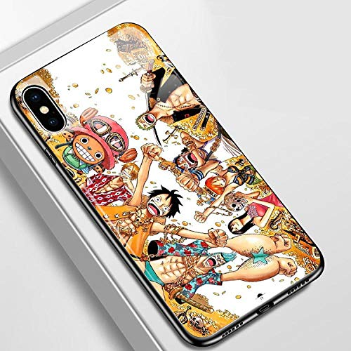 Japón Anime One Piece Funda telefónica para iPhone 8 7 Plus X XS MAX XR 12 11 Pro MAX Case Dibujos Animados One Piece Zoro Luffy Soft Silicon Back Cover-Photo_Color_6/6S