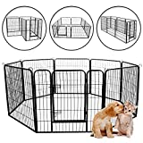 Meihua Dog Playpen Heavy Duty Foldable Metal Pet Pens,Dog Exercise Fence Outdoor Indoor