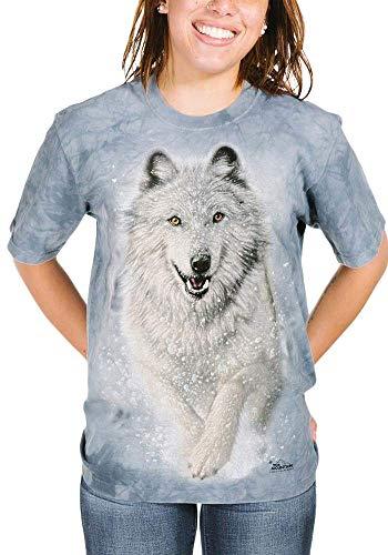 The Mountain Snow Wolf T-shirt gris clair, blau, Small