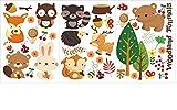Romote Wall Art Stickers - Wandtattoo - Wandtapeten 58 * 16cm Waldtiere Wand Stickerfor Home Decor Dekoration - Wohnzimmer Badezimmer Küche Büro Schlafzimmer