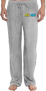Hefeihe Hell Yeah Men's Sweatpants Lightweight Jog Sports Casual Trousers Running Training Pants