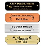 0.875' H x 2.5' W, Metal Nameplates, Brass, Copper, Nickel Silver Metal Plate, Personalized, Custom Engraved Name Tag, Name Plaque, Square Rounded Notched or Scallop Corners, Made in USA