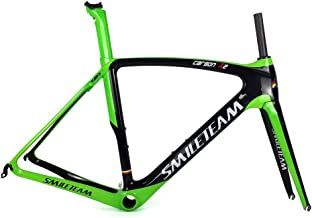 SmileTeam Full Carbon Road Bike Frames BB386 Aero Racing Bicycle Carbon Frameset with Headset BB386 Size 50/53/55/57cm