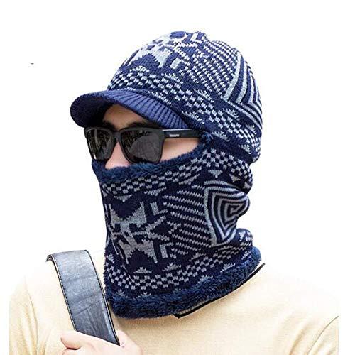 YDS SHOP muts en sjaal heren gebreide muts winter cadeauset 56-59CM 3