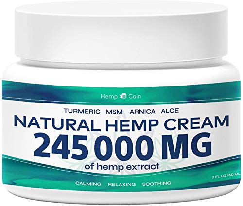 Organic Hemp Pain Reliever, 245 000 Mg, Non-GMO, Natural Hemp Extract for Joint, Muscle, Back, Neck, Knee Pain, Made in USA