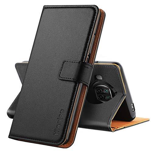Hianjoo Hülle Kompatibel für Xiaomi Mi 10T Lite 5G, Tasche Leder Flip Hülle Brieftasche Etui mit Kartenfach & Ständer Kompatibel für Xiaomi Mi 10T Lite 5G, Schwarz