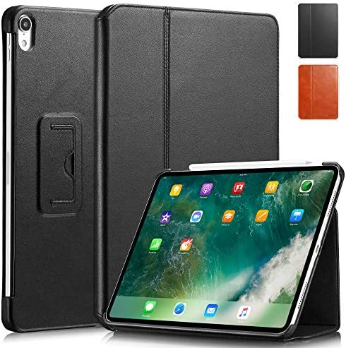 KAVAJ Case Leather Cover Berlin Works with Apple iPad Air 4 10 9 2020 Black Genuine Cowhide product image