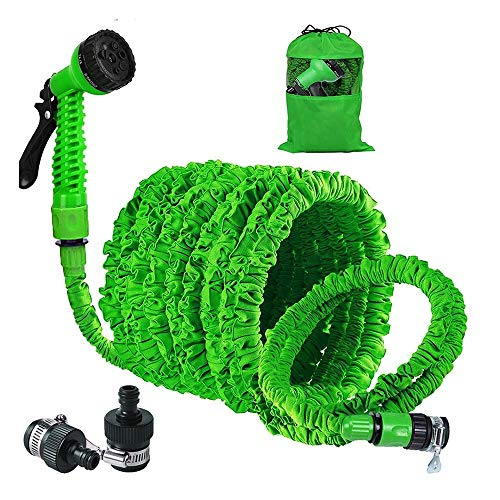 25to150 FT Flexibele tuinslang Auto Watering Slang met spuitpistool Watering Kit Expandable Waterslang Pipe Watering spuitpistool Set (groen) (Size : 25ft)