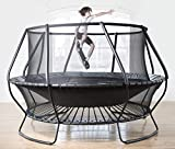 Plum Unisex's Bowl Unique New Technology Trampolin, Schwarz, 4,3 m