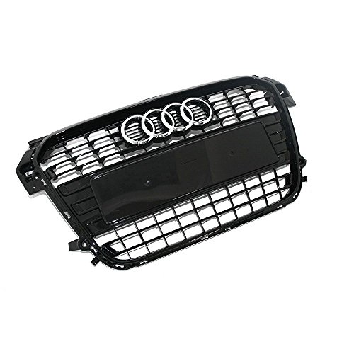 Kühlergrill Original Audi A1 (8X) Modell 2011-2014 schwarz glänzend Tuning Grill Sport Frontgrill Klavierlack 8X0853651 ALZ