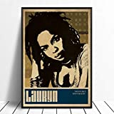 taoyuemaoyi Lauryn Hill Musik Sänger Poster Hip Hop Rap