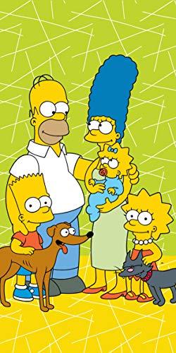 The Simpsons Toalla de baño, toalla de playa, toalla de ducha, 70 x 140 cm.