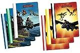 6 Dragons Schnellhefter DIN A4 / 2 verschiedene Motive mit 6 verschiedene Farben