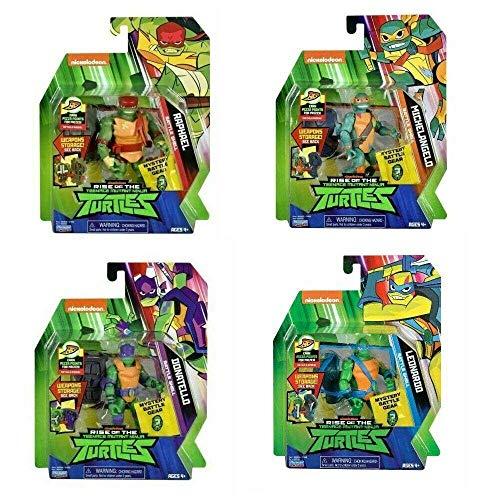 Giochi Preziosi Turtles Rise off Pers. Base Ass.2 Personaggi E Playset Maschili, Multicolore, 8056379070948