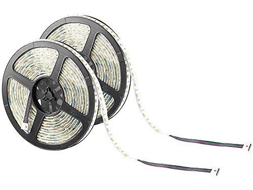 2 bandes lumineuses 300 LED SMD (RVB + blanc), 5 m LX-500A - extérieur [Lunartec]