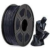Filamento PLA 1,75mm, 2021 Il Più Recente Filamento PLA 3D Nero, Precisione Dimensionale +/- 0,02mm, Bobina da 1kg (2,2lbs), PLA Light Black