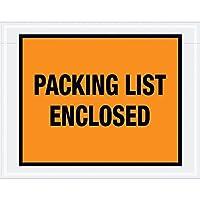 Aviditi PL22 Pre-Printed Envelope Packing List Enclosed 7 Length x 5-1/2 Width x 2 mil Thick Orange (Case of 1000) [並行輸入品]