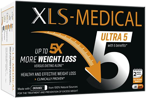 XLS-Medical Ultra 5 Weight Loss Capsules - Reduces Calories Absorbed from...