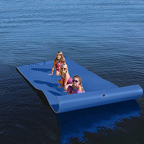 Floating Water Mat, 9 x 6 Feet Portable Floating Water Pad, Bouncy Tear-Resistant XPE Foam, Roll-Up...