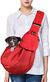 Comfy Hands-Free Single-Shoulder Dachshund Carrier Travel Bag with Adjustable Strap and Pocket Asoract Small Dog Carrier Sling Premium Quality Pet Sling Carrier for Small Dogs and Cats