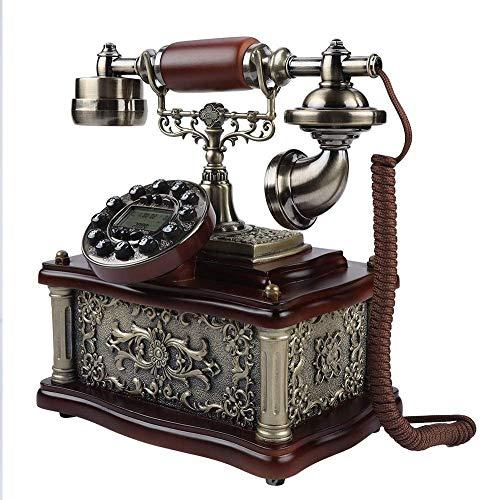 AWAING Telefonos Antiguos Vintage Teléfono Antiguo, con Cable, Digital, Vintage, clásico, Europeo, Retro, teléfono Fijo, Decorativo, Giratorio, con Auriculares Colgantes, para la decoración de la